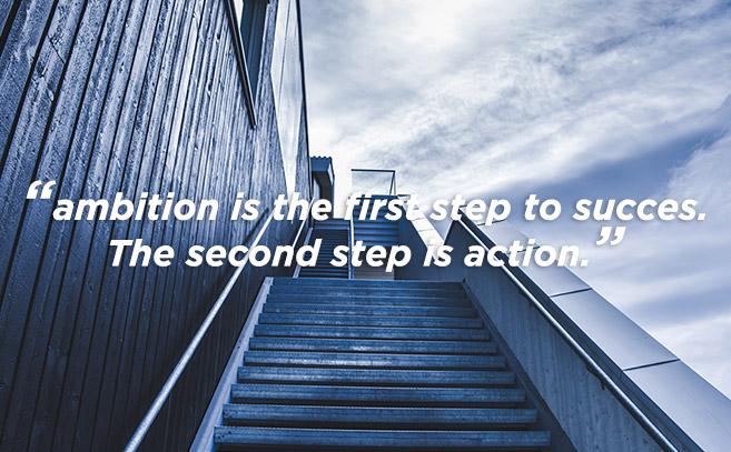 online marketing doelen quote over ambitie
