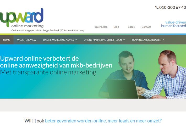 Upward online header nieuwe website