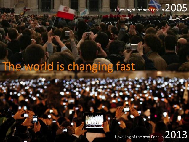 Bekendmaking Paus 2005 en 2013