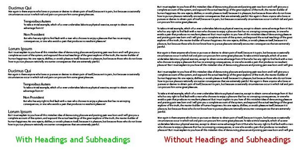 Het verschil tussen onleesbare en leesbare tekst