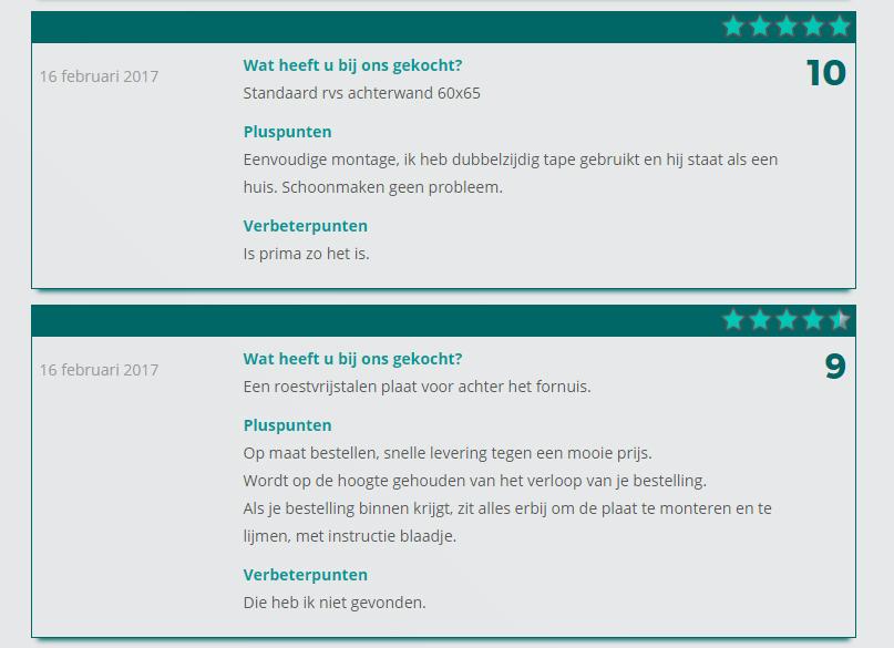 Reviews op rvs-achterwand.nl
